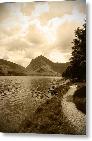 Buttermere Bright Sky Metal Print