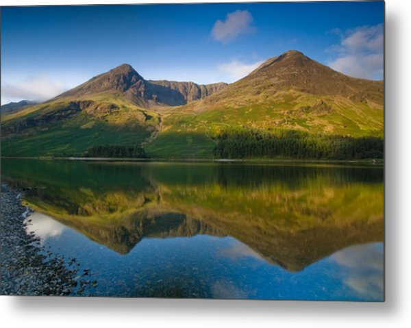 Buttermere Reflection Lake District Metal Print by David Ross