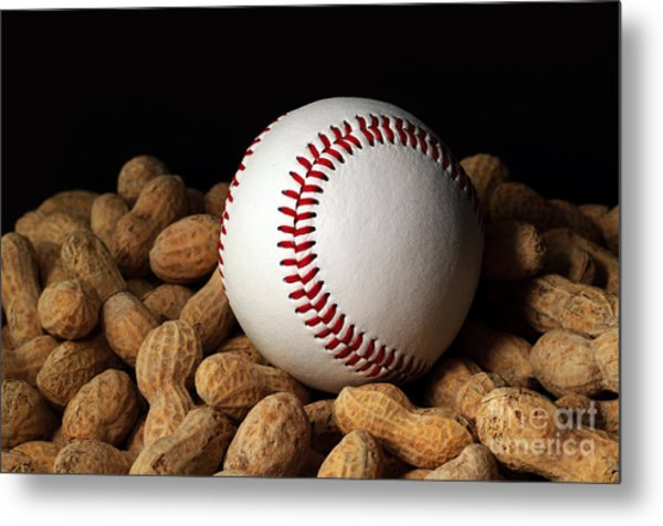 Buy Me Some Peanuts - Baseball - Nuts - Snack - Sport Metal Print