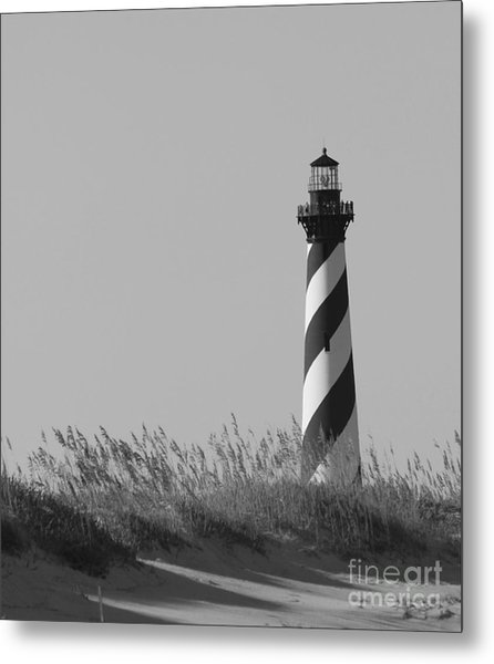 Bw Of Hatteras Lighthouse Metal Print