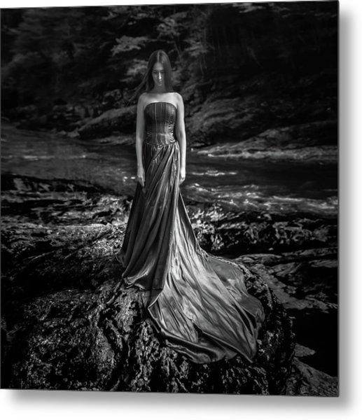 Bw Portrait (black And White ) Metal Print