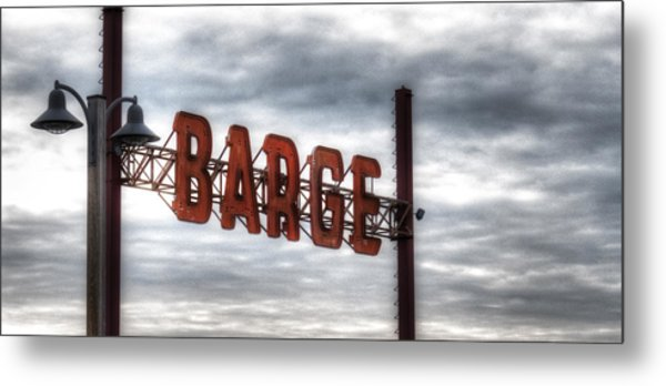 by The Barge Metal Print