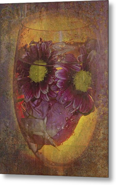 By The Glass  Metal Print