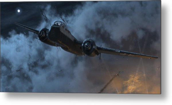 Nightfighter Metal Print