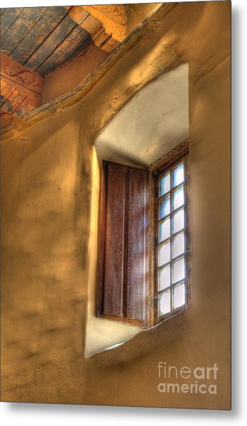By The Light Of The Window Metal Print