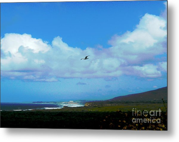 By The Sea Metal Print by Helen Xiao