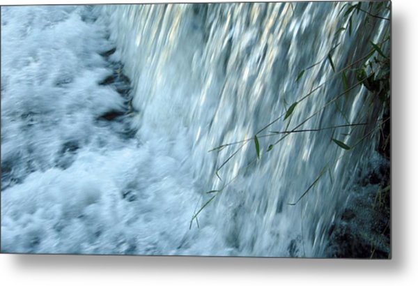 By The Weir Dam Metal Print