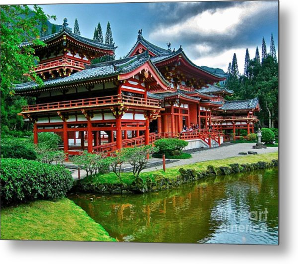 Byodo-in Temple #0026 Metal Print