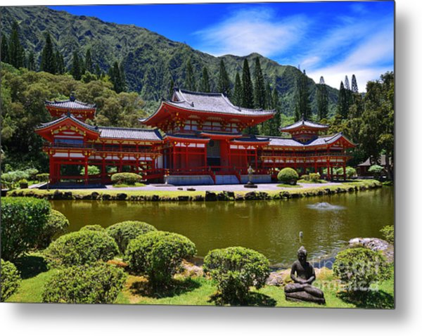 Byodo-in Temple On The Island Of Oahu Hawaii Metal Print