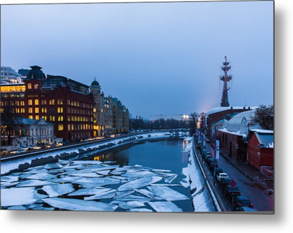 Bypass Canal Of Moscow River - Featured 3 Metal Print