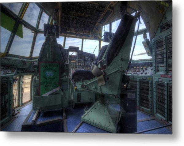 C-130 Cockpit Metal Print