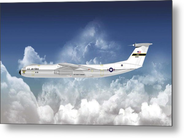 C-141b Starlifter Metal Print by Arthur Eggers