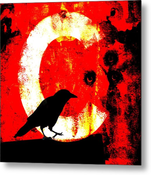 C Is For Crow Metal Print