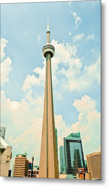 C N Tower Metal Print by BandC  Photography