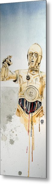 C3po Metal Print by David Kraig