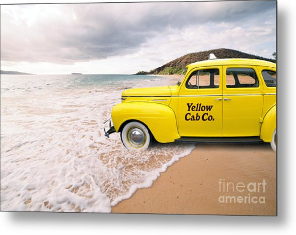 Cab Fare To Maui Metal Print