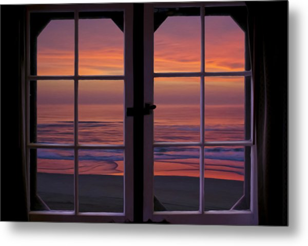 Cabin 11 At The Outer Banks Metal Print by Williams-Cairns Photography LLC