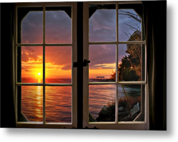 Cabin 11 On The James River Metal Print by Williams-Cairns Photography LLC