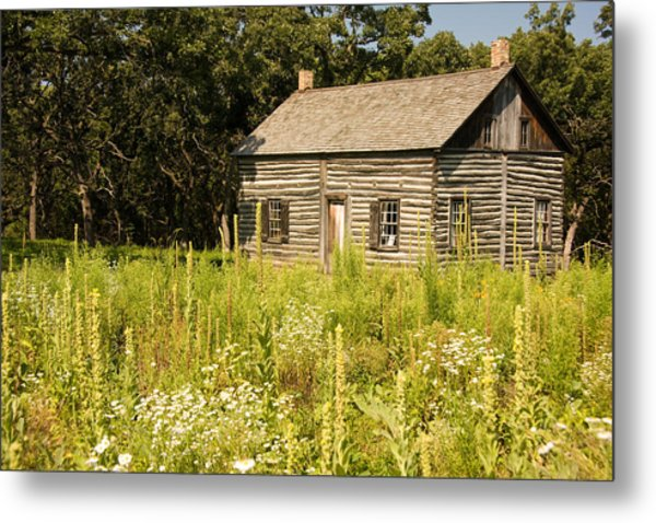 Cabin In The Prairie Metal Print