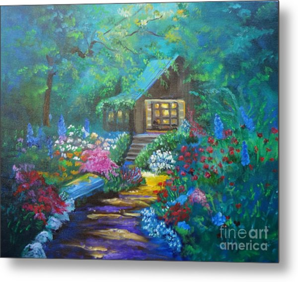 Cabin In The Woods Jenny Lee Discount Metal Print