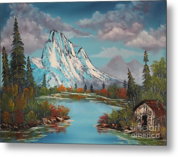 Cabin On The Lake Metal Print