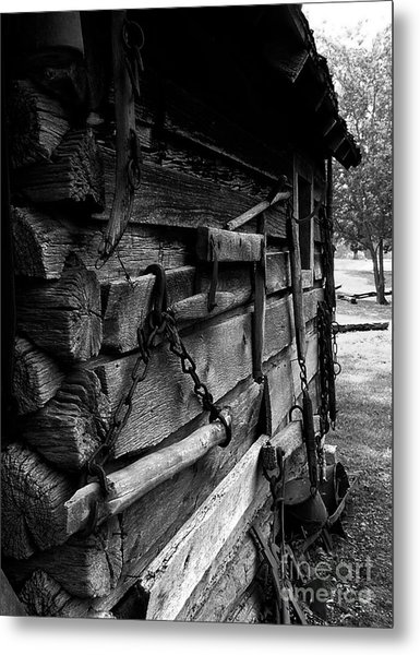 Cabin Wall II Metal Print by Julie Dant