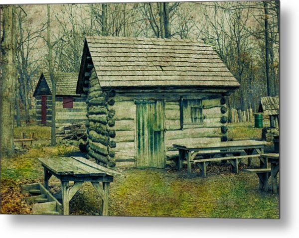 Cabins In The Woods Metal Print