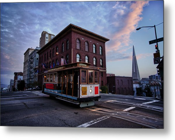 Cable Car Metal Print