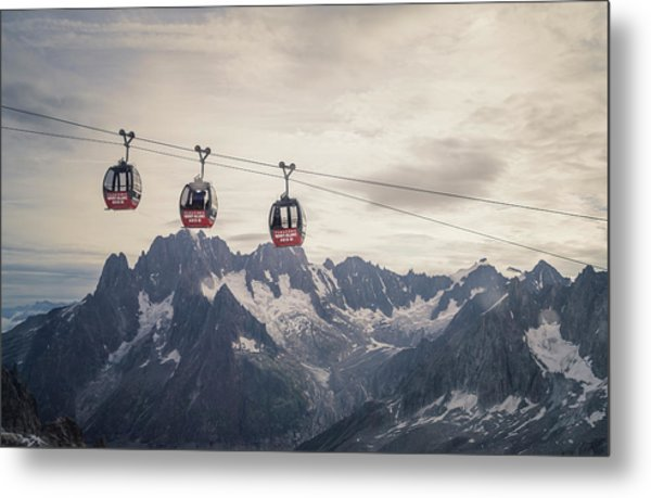 Cable Car In The Alps Metal Print by Buena Vista Images