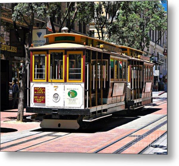 Cable Car - San Francisco Metal Print