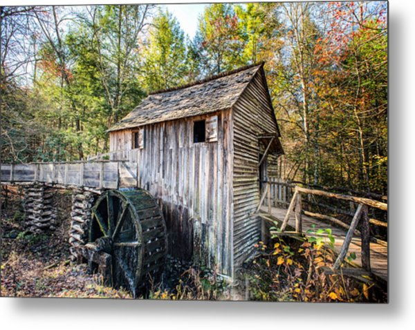 Cable Grist Mill At Cades Cove Metal Print
