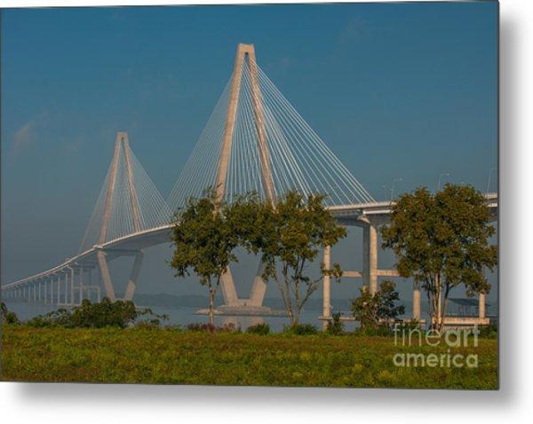 Cable Stayed Bridge Metal Print