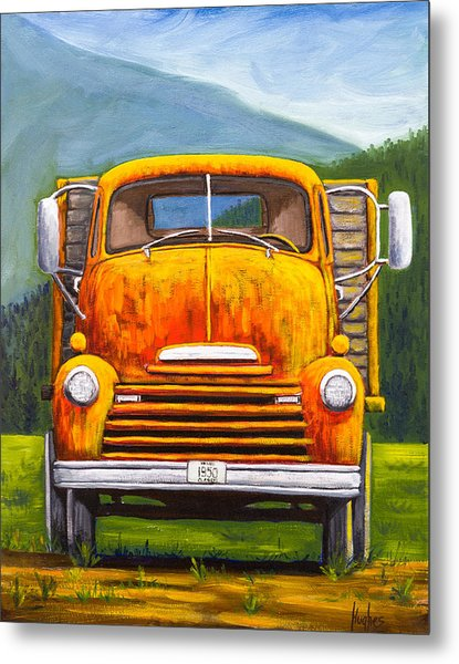 Cabover Truck Metal Print
