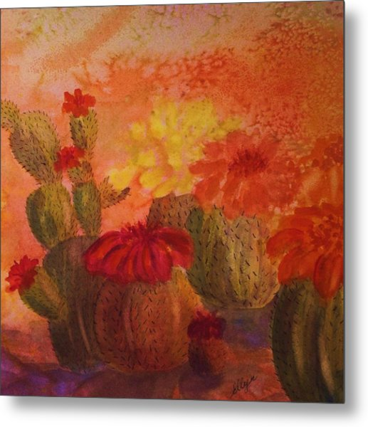Cactus Garden - Square Format Metal Print