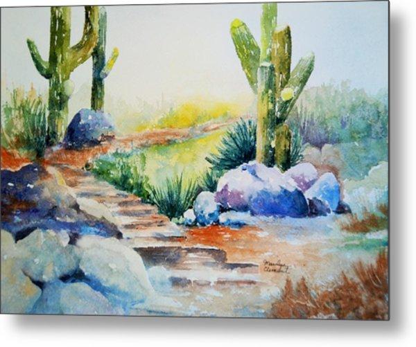 Cactus Trail Metal Print