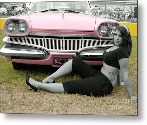 Caddy With Curves Metal Print