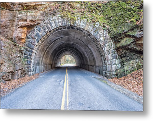 Cades Cove Road Tunnel Metal Print