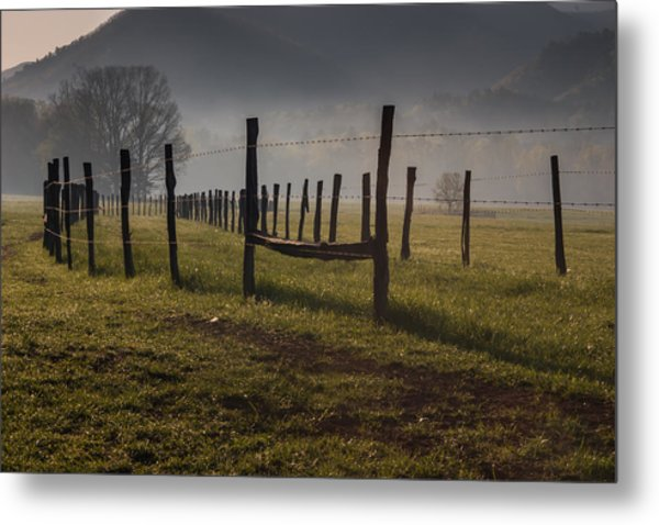Cades Cove Sunrise Metal Print