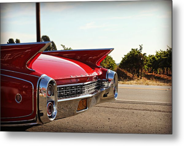 Cadillac In Wine Country  Metal Print