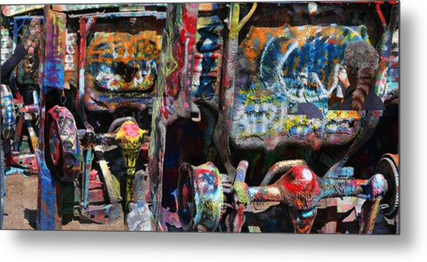 Cadillac Ranch Abstract Metal Print