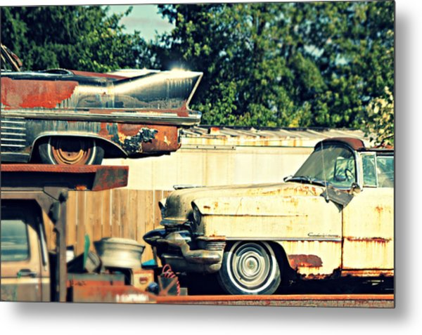 Cadillacs In Decay Metal Print
