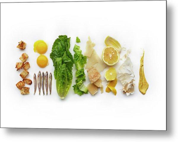 Caesar Salad Ingredients Metal Print by Lew Robertson