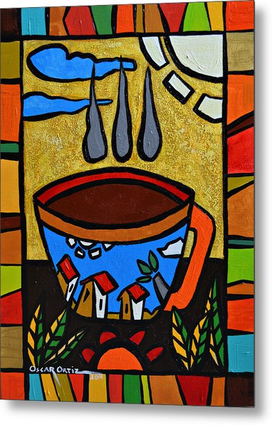Metal Print featuring the painting Cafe Criollo  by Oscar Ortiz