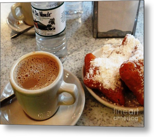 Cafe Du Monde Afternoon Metal Print