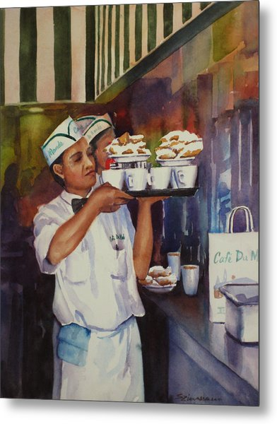Cafe Du Monde Metal Print by Sue Zimmermann