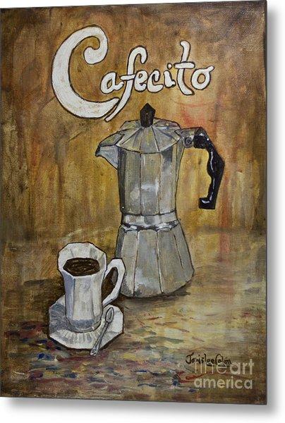 Cafecito Metal Print