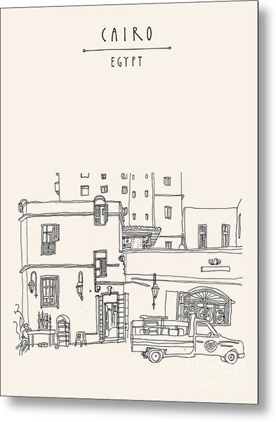 Cairo, Egypt, North Africa. A Man Metal Print