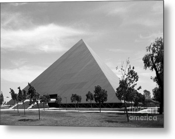Cal State University Long Beach Walter Pyramid Metal Print by University Icons