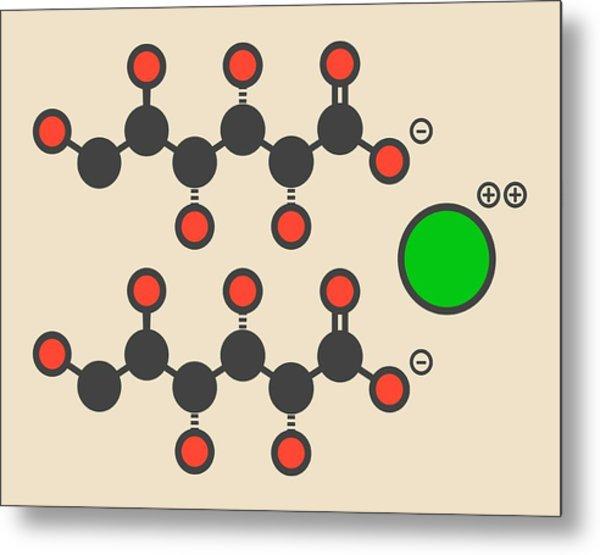 Calcium Gluconate Drug Molecule Metal Print by Molekuul