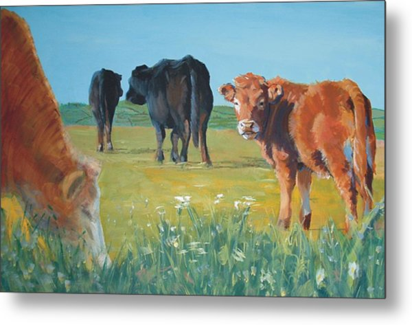 Calf Painting Metal Print